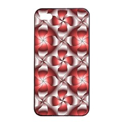 Floral Optical Illusion Apple Iphone 4/4s Seamless Case (black) by Jojostore