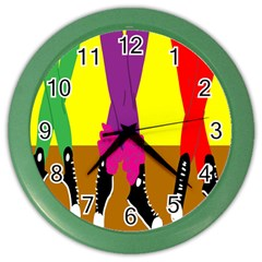 Foot Dance Color Wall Clocks by Jojostore