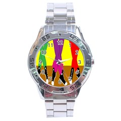 Foot Dance Stainless Steel Analogue Watch by Jojostore