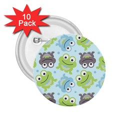 Frog Green 2 25  Buttons (10 Pack)  by Jojostore