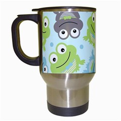 Frog Green Travel Mugs (white) by Jojostore