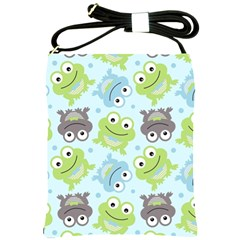 Frog Green Shoulder Sling Bags by Jojostore