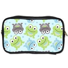 Frog Green Toiletries Bags 2 Side by Jojostore