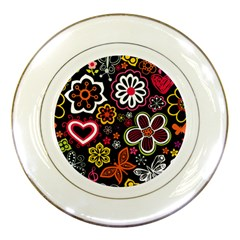 Flower Butterfly Porcelain Plates by Jojostore