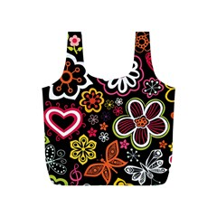 Flower Butterfly Full Print Recycle Bags (s)  by Jojostore