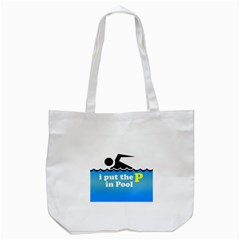 Funny Swiming Water Tote Bag (white) by Jojostore