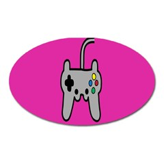 Game Pink Oval Magnet by Jojostore