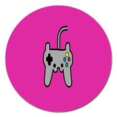 Game Pink Magnet 5  (round) by Jojostore