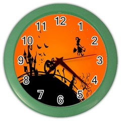 Halloween Day Color Wall Clocks by Jojostore