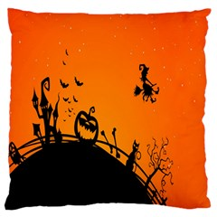 Halloween Day Large Flano Cushion Case (two Sides) by Jojostore