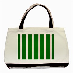 Green Line Basic Tote Bag by Jojostore