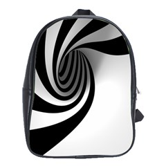 Hole Black White School Bags(large)  by Jojostore