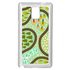 Hilly Roads Samsung Galaxy Note 4 Case (white) by Jojostore