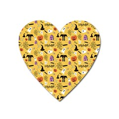 Halloween Pattern Heart Magnet by Jojostore