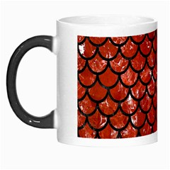 Scales1 Black Marble & Red Marble (r) Morph Mug by trendistuff