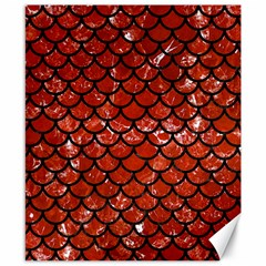 Scales1 Black Marble & Red Marble (r) Canvas 8  X 10  by trendistuff