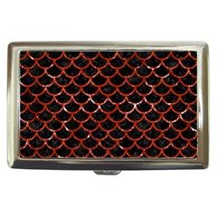 Scales1 Black Marble & Red Marble Cigarette Money Case by trendistuff
