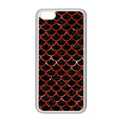 Scales1 Black Marble & Red Marble Apple Iphone 5c Seamless Case (white) by trendistuff