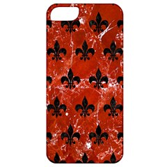 Royal1 Black Marble & Red Marble Apple Iphone 5 Classic Hardshell Case