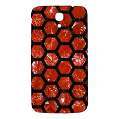 Hexagon2 Black Marble & Red Marble (r) Samsung Galaxy Mega I9200 Hardshell Back Case by trendistuff