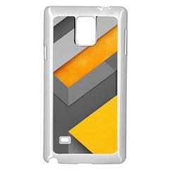 Marshmallow Yellow Samsung Galaxy Note 4 Case (white) by Jojostore