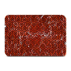 Hexagon1 Black Marble & Red Marble (r) Plate Mat by trendistuff