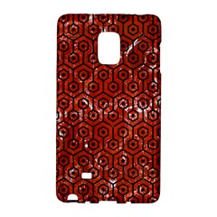 Hexagon1 Black Marble & Red Marble (r) Samsung Galaxy Note Edge Hardshell Case by trendistuff