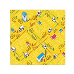 Highway Town Small Satin Scarf (square) by Jojostore