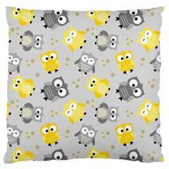 Owl Bird Yellow Animals Standard Flano Cushion Case (two Sides) by Jojostore