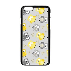 Owl Bird Yellow Animals Apple Iphone 6/6s Black Enamel Case by Jojostore
