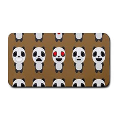 Panda Emoticon Medium Bar Mats by Jojostore