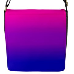 Pink Purple Blue Flap Messenger Bag (s) by Jojostore