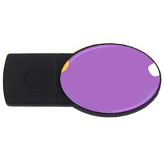 Purple Usb Flash Drive Oval (2 Gb)  by Jojostore