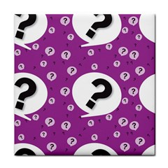Question Mark Sign Tile Coasters