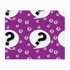 Question Mark Sign Small Glasses Cloth (2 Side) by Jojostore