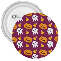Pumpkin Ghost Canddy Helloween 3  Buttons by Jojostore