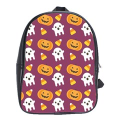 Pumpkin Ghost Canddy Helloween School Bags(large)  by Jojostore