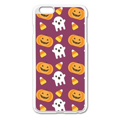Pumpkin Ghost Canddy Helloween Apple Iphone 6 Plus/6s Plus Enamel White Case by Jojostore