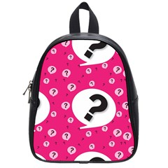 Question Mark Red Sign School Bags (small)  by Jojostore