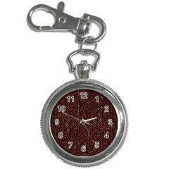 Hexagon1 Black Marble & Red Marble Key Chain Watch by trendistuff