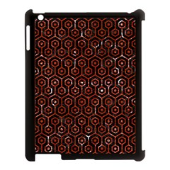 Hexagon1 Black Marble & Red Marble Apple Ipad 3/4 Case (black) by trendistuff