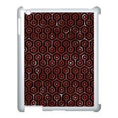 Hexagon1 Black Marble & Red Marble Apple Ipad 3/4 Case (white) by trendistuff
