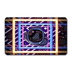 Abstract Sphere Room 3d Design Magnet (rectangular) by Amaryn4rt
