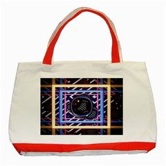 Abstract Sphere Room 3d Design Classic Tote Bag (red) by Amaryn4rt