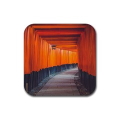 Architecture Art Bright Color Rubber Square Coaster (4 Pack)  by Amaryn4rt
