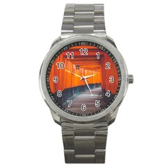 Architecture Art Bright Color Sport Metal Watch by Amaryn4rt
