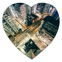 Architecture Buildings City Jigsaw Puzzle (heart) by Amaryn4rt