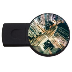 Architecture Buildings City Usb Flash Drive Round (4 Gb)  by Amaryn4rt