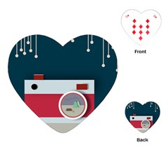 Camera Vector Illustration Playing Cards (Heart)  by Amaryn4rt