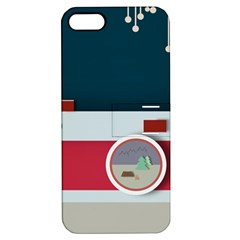 Camera Vector Illustration Apple Iphone 5 Hardshell Case With Stand by Amaryn4rt